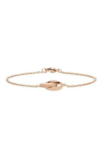 Daniel Wellington gold Elan Unity Bracelet Rose Gold 165mm 7EF03AC787CD0DGS_1