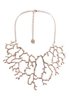 珊瑚鏤空墜飾項鍊