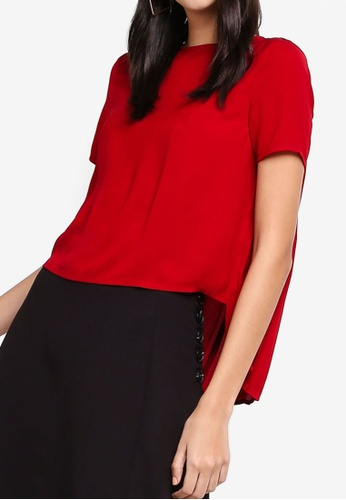 ZALORA red Pleated Back Top 42A80AAA80CC81GS_1