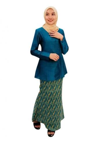 KAMDAR turquoise Dhaniyah Kurung Modern 3ED9FAAE7EAFA5GS_1