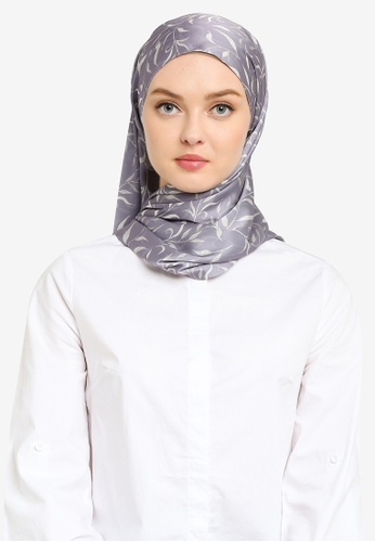 Hijabii grey Linda Shawl in Grey 85CACAC3D1E13DGS_1
