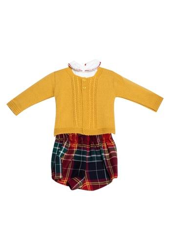 RAISING LITTLE yellow Salon Knit Set 21A6FKA95FD094GS_1
