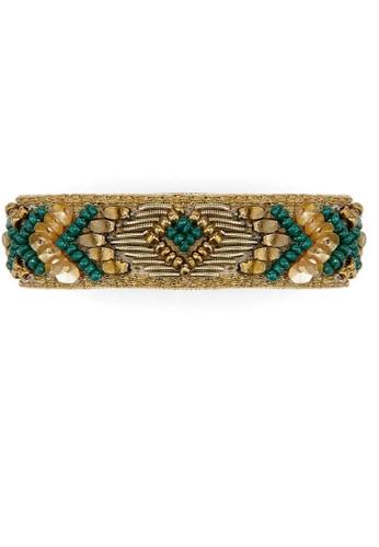 HIPANEMA black and green and multi Weaving mini-cuff bracelet 4BD89AC37A3584GS_1