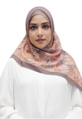 Buttonscarves brown Buttonscarves Les Amities Reborn Voile Square Taupe 6AD01AA6FE4979GS_1