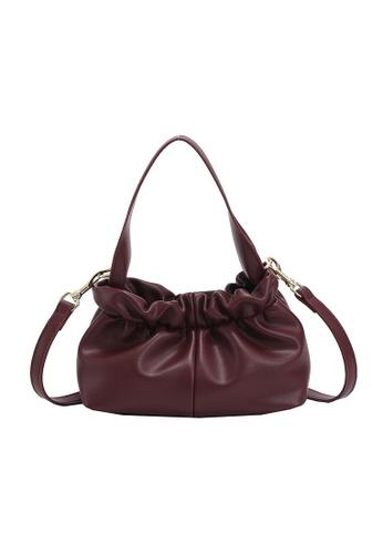 Lara purple Women's Leather Drawstring Cross-body Dumpling Bag - Purple D16B5AC327437FGS_1