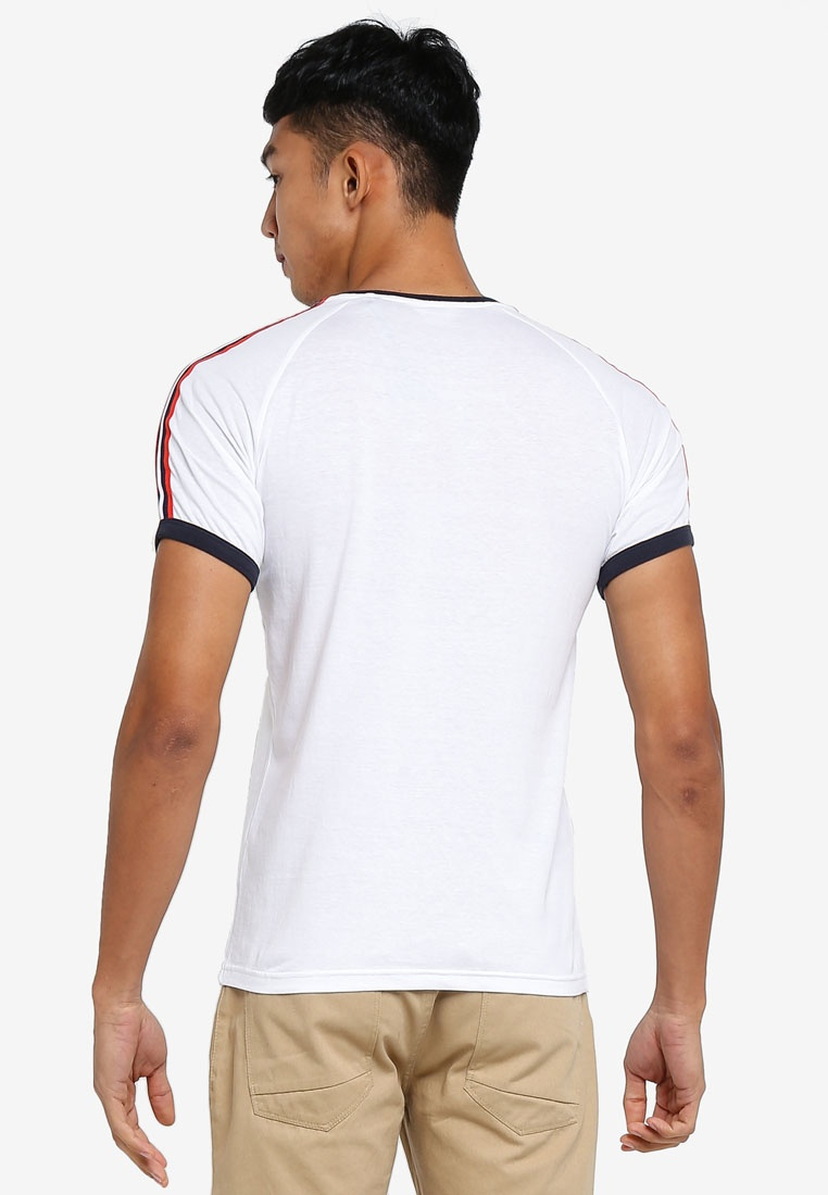 Nautical Shoulder White Shirt Striped Solid Niels T q4xwTzFqd5