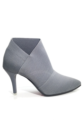 Twenty Eight Shoes grey Elastic Heel Ankle Boots VLA196 5F325SH48C8A0DGS_1