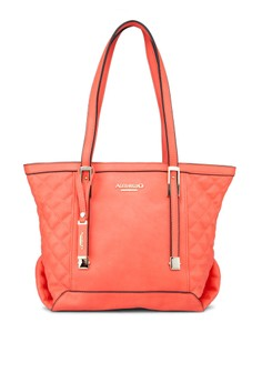 Faux Quilted Tote