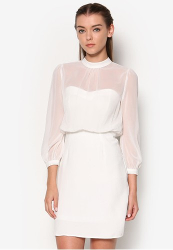 透膚長袖洋裝,esprit holdings 服飾, 洋裝