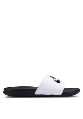 "Nike white Men's Nike Benassi ""Just Do It."" Sandals D1AE9SH2A70143GS_1"
