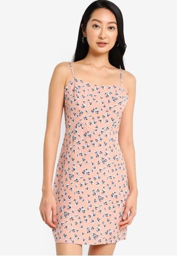 ZALORA BASICS pink and multi Cami Mini Dress 1E710AAA38E2B2GS_1