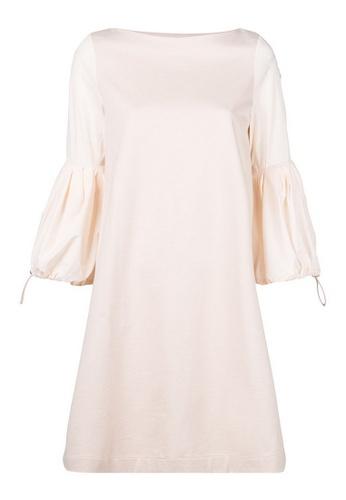 Moncler beige Moncler puff sleeve shift Dress in Beige 33A32AAFC79552GS_1