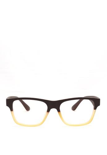 Kaca-kaca yellow and brown Kaca Kaca Taylor Brown Yellow Eyeglasses KA666AC0RJCOMY_1
