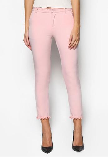 絨球邊飾九分褲, 服esprit分店飾, 長褲及內搭褲