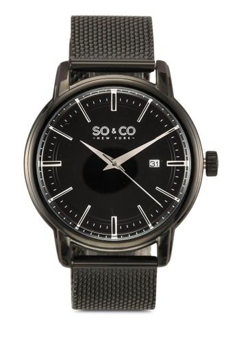 SO&CO black Madison Watch 5207 22020ACC15B2B7GS_1