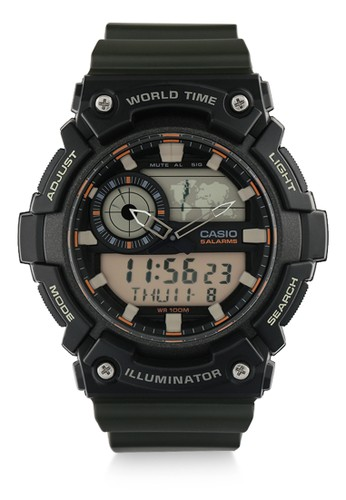 Casio green Unisex Digital Watches Aeq-200W-3Avdf 4E5BDACFF5E783GS_1
