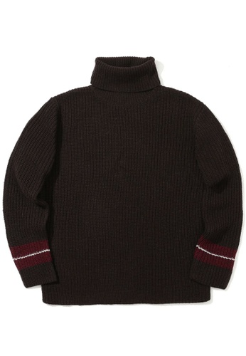 LOS ANGELES PROJECT -FASHION brown Sleeve stripe sweater. FF4ABAA26679F2GS_1