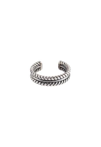 A-Excellence silver Premium S925 Sliver Twine Ring 3CA3DAC2D5C0CBGS_1