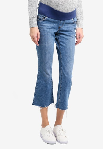 TOPSHOP 藍色 Maternity Moto Dree Jeans TO412AA0T0WJMY_1