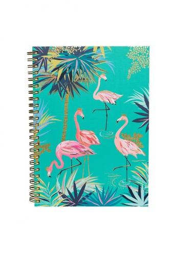 Sara Miller green Sara Miller - Tahiti A5 Notebook - Flamingo (SMIL3592) 8DE93AC23DE5D9GS_1