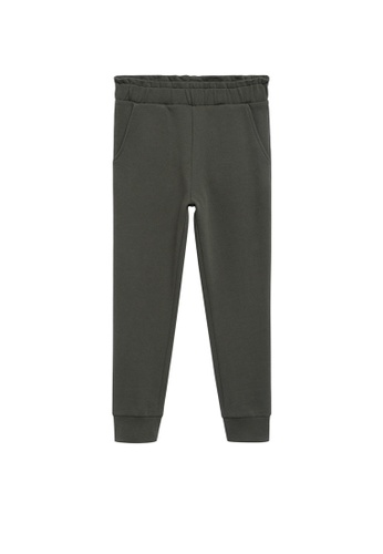 MANGO KIDS green Cotton Jogger-Style Trousers 74A42KA1BE8087GS_1
