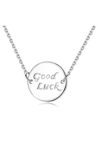 SUNRAIS silver Premium Silver S925 Silver Letter Necklace 3F263AC6E794A7GS_1