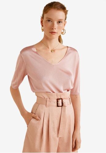 Mango pink Fine-Knit Sweater 73AC6AA9C57FBCGS_1