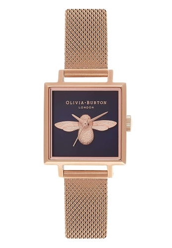 Olivia Burton gold MOULDED BEE Rose-Gold 22.5 mm Women's Watch 111E9ACA6A5406GS_1