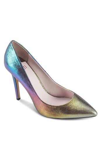 金屬感閃面尖頭高跟鞋, esprit香港分店女鞋, 鞋