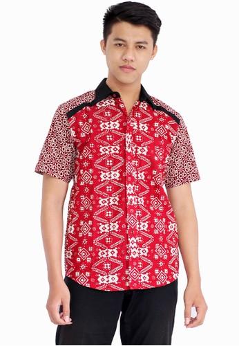 Batik Putra Bengawan red Hem C Saka Ind 1EC8BAAEF442EEGS_1
