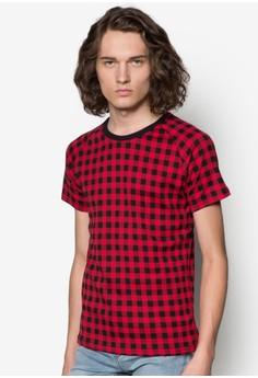 Short Sleeve Checkered T-Shirt