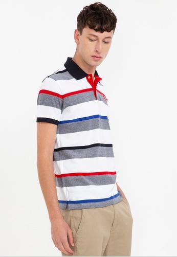 Bossini white Short Sleeve Striped Premium Polo Shirt 4EC74AA5B90304GS_1