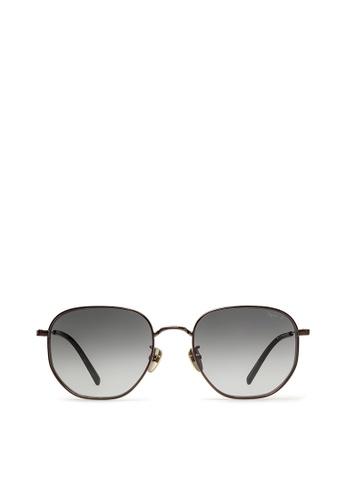 agnès b. brown agnès b. Metal Sunglasses AB10023 Audrey D9740GL0A6BB23GS_1
