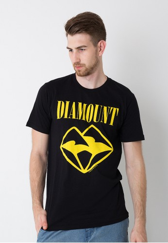 Bloop Tshirt Wl Diamount Face02 Black BLP-OE133