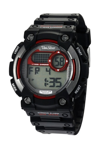 UniSilver TIME black Avier Collection Digital Rubber Watch UN802AC39MGYPH_1