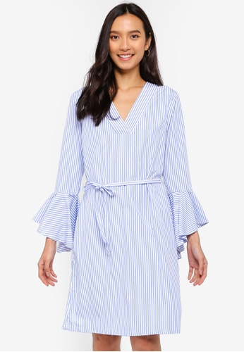 ICHI blue Mette Shirt Dress 14D5BAAB0ED9AEGS_1