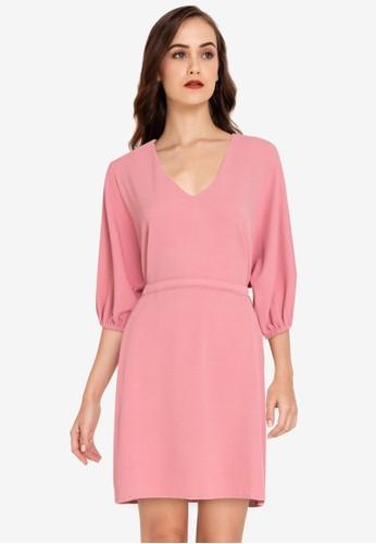 ZALORA WORK pink Oversized Drawstring Dress B3E12AAE23E096GS_1