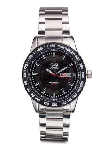 Q&Q A194-202Y 撞色圓框鍊錶, 錶類, 飾品配esprit au件