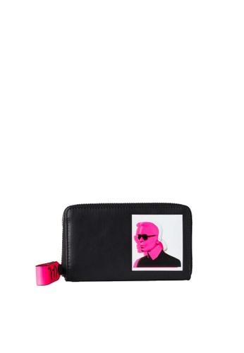 KARL LAGERFELD black Karl Legend Md Zip Wallet 01058AC469C547GS_1