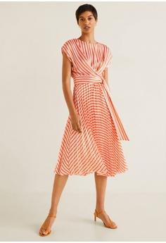 7a9cc75dba4 Mango Pleated Midi Dress RM 313.90. Sizes S M L