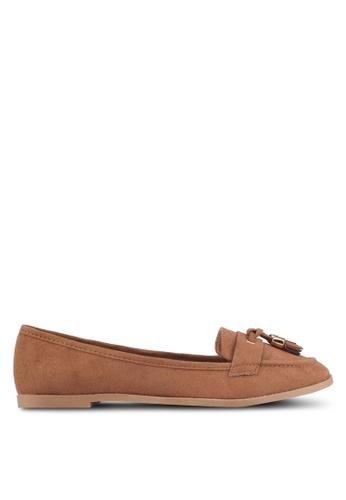 Dorothy Perkins brown Tan 'Larissa' Tassel Loafers 54649SHF3AB671GS_1