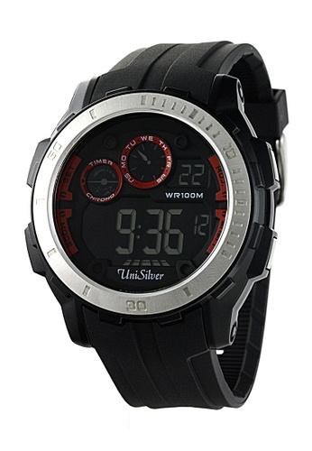 UniSilver TIME black Noctis Rubber Watch KW1729-1001 UN802AC54CEFPH_1