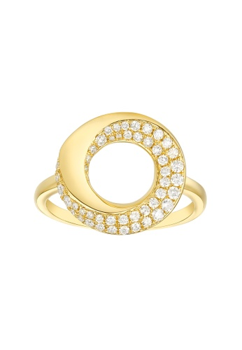 Vedantti yellow Vedantti 18K The Circle Bold Ring in Yellow Gold DF47BACC057E34GS_1
