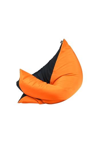doob black and orange and multi PLOPSTA' - versatile spill-proof doob bean bag (Chilled Mandarin) 2C1D1HLC990642GS_1