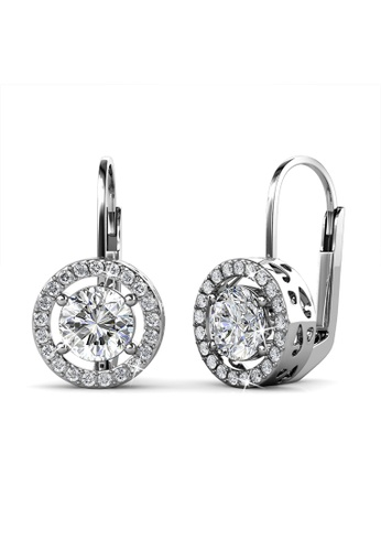 Her Jewellery silver Talia Clip Earrings -  Made with premium grade crystals from Austria HE210AC60RHBSG_1