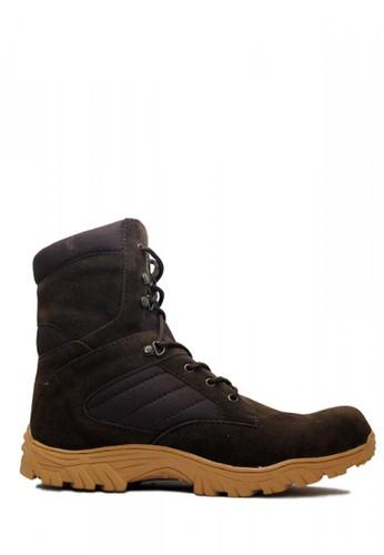 Cut Engineer brown Cut Engineer Taktical Zipper High Safety Boots Iron Dark Brown 32C2CSH853BA1FGS_1