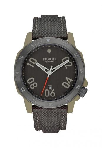 Nixon grey Nixon - Ranger  Nylon - Sage / Gunmetal NI855AC62OHLSG_1