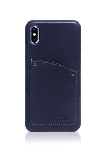Monocozzi navy Exquisite - Vintage Leather Hard Shell Case for iPhone XS Max - Navy Blue E6531AC0BCEAD8GS_1