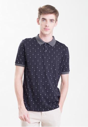 Drum Printed Polo Shirt-black DR425AA0RSCDMY_1