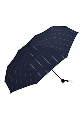 WPC blue WPC Unisex Wind Resistant Folding Umbrella (Stripe Mini) 7F4F0AC38A47A7GS_1